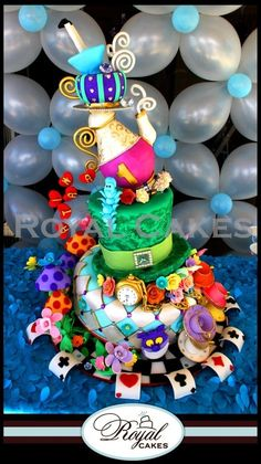 Alice in Wonderland cake by elinor