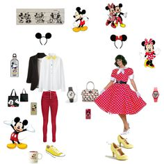 Mickey & Minnie Mouse by thefrugal-fashionista on Polyvore featuring polyvore, fashion, style, Uniqlo, Boohoo, Converse, Disney, Forzieri and SIGG
