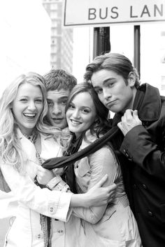 Serena, Chuck, Blair, and Nate