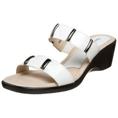 David Tate Womens Bay Banded SandalWhite Patent95 W US * Read more reviews of the product by visiting the link on the image.(This is an Amazon affiliate link and I receive a commission for the sales)