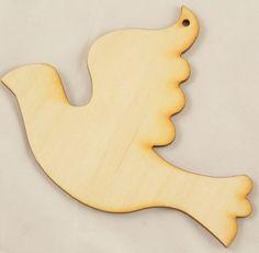 Wood Dove #2 Ornament | Wood Cutouts and Shapes | Wood Ornaments