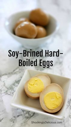 Soy-Brined Hard-Boiled Eggs take the ho-hum out of classic HBs and will be your new go-to for brunch. Brine them in a seasoned soy sauce mixture, which adds salt, a sweet note, a tang from vinegar and a touch of intrigue from aromatics. #shockinglydelicious  #hardboiledeggs  #brunchweek #ad