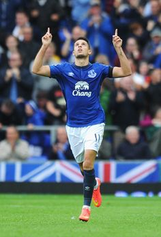 Kevin Mirallas - Everton v Chelsea August 2014 Kevin Mirallas, Everton Fc, August 2014, 30th, Chelsea, Football, Running, Sports, Soccer