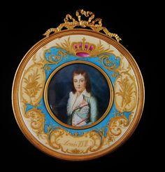 century miniature of Louis XVII, son of Louis XVI and Marie Antoinette Marie Antoinette, Versailles, Ferdinand, Roi George, Miniature Portraits, Miniature Paintings, Luis Xvi, French Royalty, Antique Picture Frames