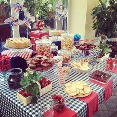 Candy Bar at my wedding #candybar #wedding #americanpicnic #picnic #słodkibufet #patrioticwedding
