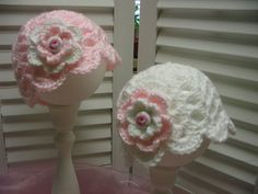 Boutique Style Crocheted Twin Pink White by rosecottagestitches, $15.00