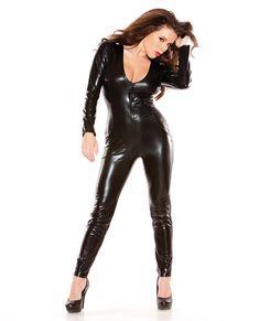 0cf0e31ba35 Kitten wet look catsuit black Latex, Sexy Lingerie, Plus Size Lingerie, Leather  Lingerie