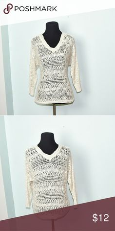 Urban Outfitters Cream Light Knit Top In excellent condition! Extremely comfortable, soft, and flattering! Buy 3 items and get 1 free plus 15% off your purchase total! Urban Outfitters Tops