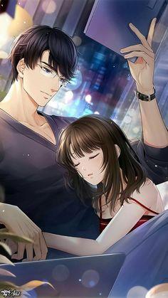 Cool Anime Guys, Handsome Anime Guys, Cute Anime Boy, Anime Art Girl, Anime Love Story, Anime Love Couple, Romantic Anime Couples, Romantic Manga, Anime Cupples