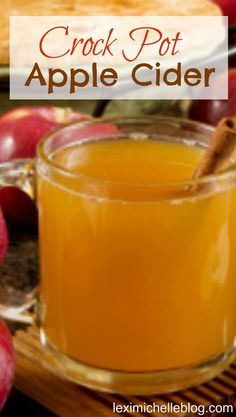 Crock Pot Apple Cider -5 ingredients & super easy! perfect for those cold fall nights!