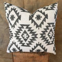 Southwestern Pillow Case, Navajo, Native American Print, Boho Pillows, Black and White Throw Pillows, Tribal Décor