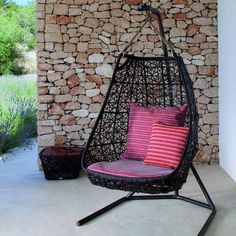20 Hanging Hammock Chair Designs, Stylish And Fun Furniture #OutdoorChair  Hanging Swing Chair,