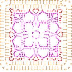 Tangerine Chart 8 for the Summer CAL - LoveCrochet blog