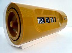 Mid Century Modern Yellow FLIP CLOCK