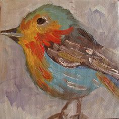 "Original ABSTRACT painting, Oil on Canvas, ""Bird"", http://www.etsy.com/shop/EKBrownArt"