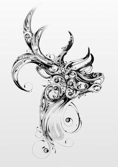 Deer Illustration by Si Scott