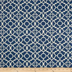 Waverly+Lovely+Lattice++Lapis from @fabricdotcom  Screen+printed+on+cotton+sateen;+this+medium+weight+fabric+is+very+versatile.+This+fabric+is+perfect+for+window+treatments+(draperies,+valances,+curtains,+and+swags),+bed+skirts,+duvet+covers,+pillow+shams,+accent+pillows,+tote+bags,+aprons+and+upholstery.+Colors+include+white+on+blue.
