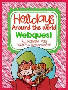 In this Holidays Around the World pack you will find everything you need for your students to complete a fun, technology integrated research project. ***QR Codes have been provided!*** A webquest is a fun way for students to conduct a research project. Computer Lab Classroom, Music Classroom, Holidays Around The World, Around The Worlds, Sixth Grade Reading, Inquiry Based Learning, Different Holidays, School Subjects, Research Projects