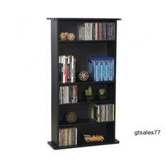Home Office Adjustable Bookcase Shelves Media Cabinet Storage Organizer Bedroom