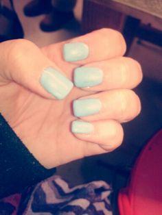 #blue #shellac #spring #new #nails