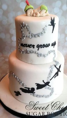 A Peter Pan themed baby shower cake! A Peter Pan themed baby shower cake! Torta Baby Shower, Idee Baby Shower, Baby Shower Cakes For Boys, Baby Shower Themes, Baby Boy Shower, Baby Shower Decorations, Shower Ideas, Disney Peter Pan, Peter Pan And Tinkerbell