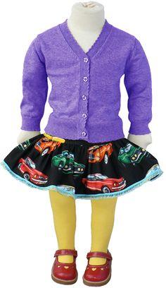 Madre Perla car skirt, orange lining!