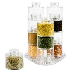 The Container Store > Acrylic 12-Bottle Spice Carousel for loose leaf tea instead $33 ---> more office/craft storage!!