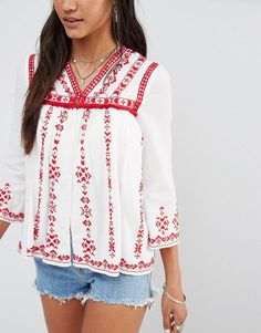 River Island   River Island Embroidered Jacket at ASOS