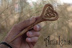 Triquetra Love Celtic Knot  Alder Wood Hair Stick by ArtisIgnis, €20.00