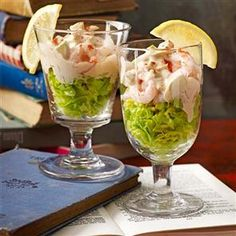1000 images about starter recipes on pinterest free for Prawn cocktail canape