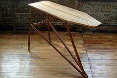 Vintage Wooden Ironing Board Wood Ironing board. great upcycled hallway table or couch table. $60
