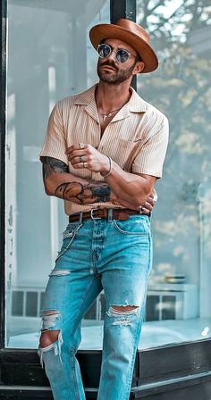 Smart Casual Outfit, Men Casual, Casual Menswear, Outfits With Hats, Fashion Outfits, Man Fashion, Warrior Fashion, Ootd Fashion, Style Fashion