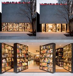 Designed by Isay Weinfeld, Livraria da Vila bookstore in San Paulo, Brazil features creative doors made out of bookshelves.