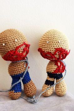 The Walking Dead: TWO Zombies / Michonne's Pets Crochet Doll   deadcraft - Crochet on ArtFire