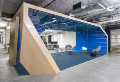 Steven Christensen Architecture has developed the new headquarters offices of software company Venafi located in Salt Lake City, Utah. Corporate Office Design, Corporate Interiors, Workplace Design, Office Interiors, Business Design, Mobile Architecture, Architecture Office, Architecture Design, Chinese Architecture
