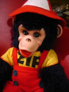 1950s Popular Toys | Zip the Monkey stuffed animal was derived from the famous real tv chimp ...