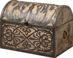 Abelardo Rustic Wooden Box | Rug & Home #rugandhome @rugandhome