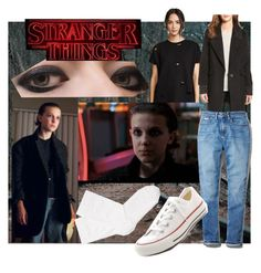 """Eleven (look #3): Stranger Things 2"" by movielooks on Polyvore featuring Oak, Calvin Klein, Converse, Wolford and Duffer"