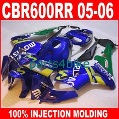 313.50$  Watch now - http://alie33.worldwells.pw/go.php?t=32335136887 - ABS plastic Injection motorcycle parts for HONDA 2005 2006 CBR 600RR CBR600RR fairings 05 06 blue movistar fairing body kits