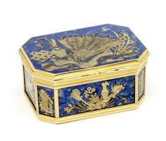 Lapis lazuli snuffbox, Heinrich Taddel, c. 1760, probably Dresden, Germany, museum no. Loan:Gilbert.404-2008 | The Rosalinde and Arthur Gilbert Collection on loan to the Victoria and Albert Museum, London