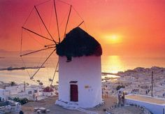 Μykonos Sunset // Greece   꼭 가봐야지~