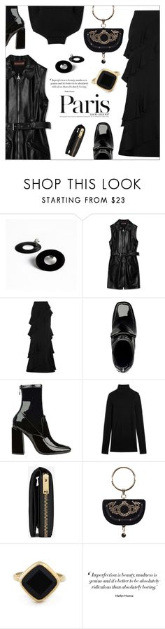 """Black color is perfect for a night in Paris"" by laste-co ❤ liked on Polyvore featuring B KREB, Alexander McQueen, Yves Saint Laurent, Sole Society and Manon Baptiste"