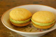 Lemon Green Tea Cookie Sandwiches