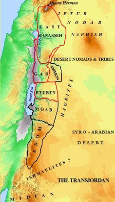 Map Of Old Testament Israel Very Detailed Including Ramathmizpeh - Map of old testament israel
