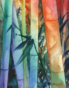 Bamboo art prints bamboo giclee art rainbow bamboo by kauaiartist