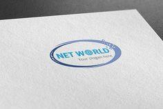 Creative Net World Logo by BdThemes on @creativemarket