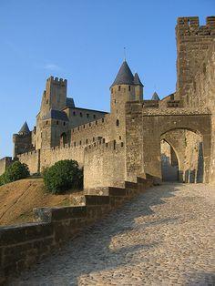Castle entry, Carcassonne France