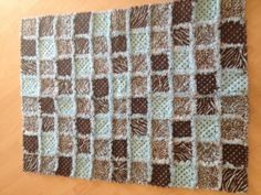 Toddler size baby boy rag quilt by crochetbyba on Etsy, $75.00