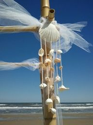 Perfect addition to your bamboo huppa #beach wedding #obx wedding #outer banks wedding #diva decor obx