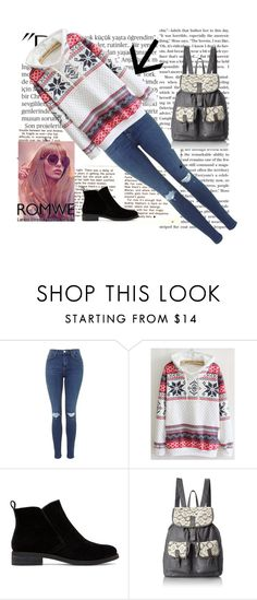"""Bez naslova #38"" by ermina996 ❤ liked on Polyvore featuring Balmain, Lucky Brand and T-shirt & Jeans"
